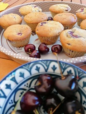 "Muffin alle ciliege:""Ricetta gustosa"""